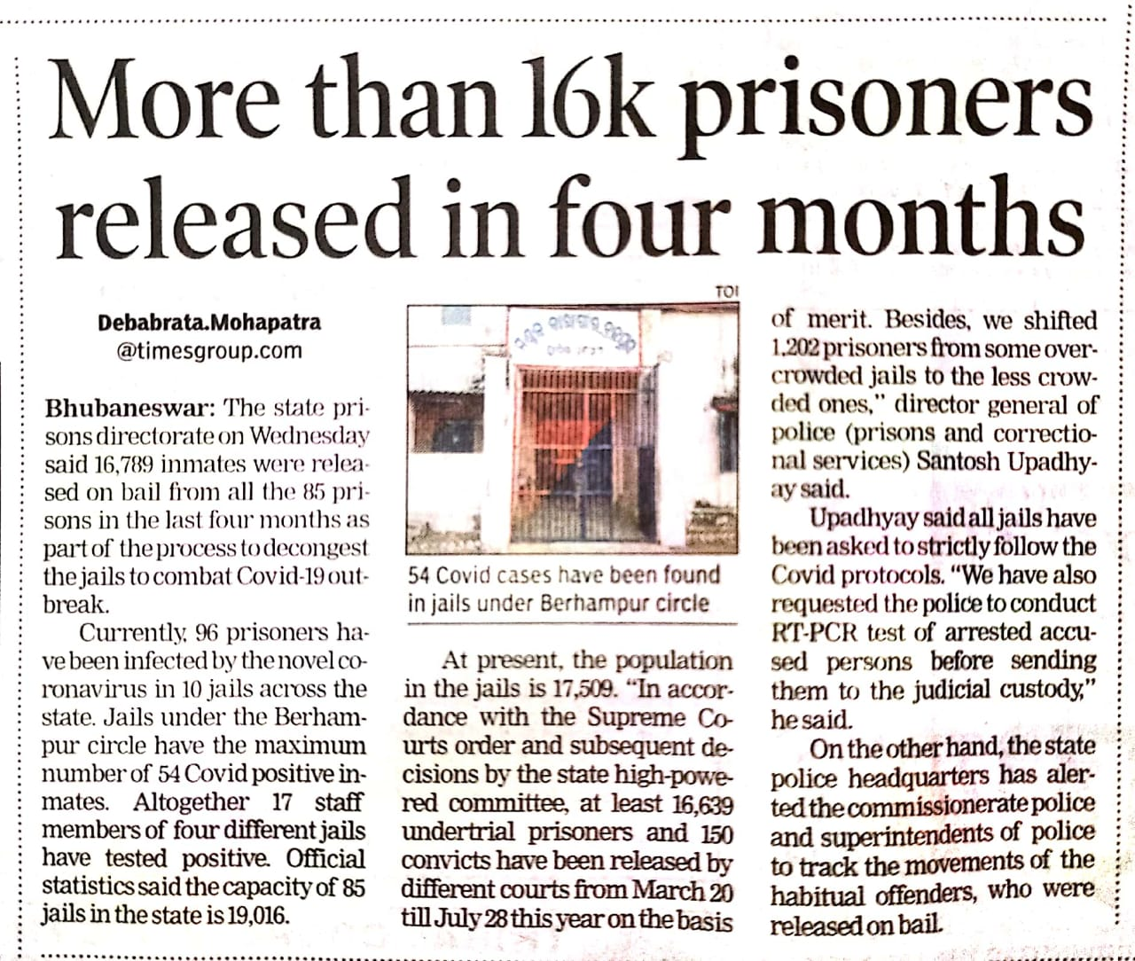 More than 16k prisoners released in four months.